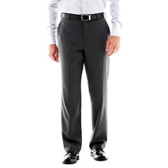 Stafford® Travel Flat-Front Suit Pants - Classic