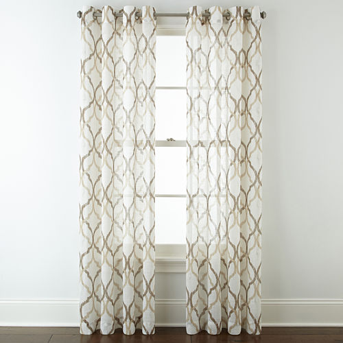JCPenney Home™ Presidio Grommet-Top Sheer Panel