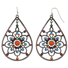 Mixit Multi Color Drop Earrings