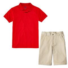 IZOD® Performance Polo or Flat-Front Shorts - Preschool Boys 4-7