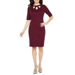 Liz Claiborne Elbow Sleeve Sheath Dress