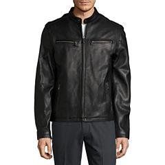 Dockers® Genuine Leather Racer Jacket