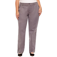 St. John's Bay Twill Pant-Plus (32