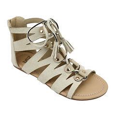 OMGirl Mckenzie Ghillie Lace-Up Girls Sandals - Little Kids