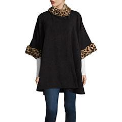 Mixit Faux Fur Trim Fleece Cold Weather Wrap
