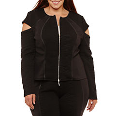 Bisou Bisou Bomber Jacket-Plus