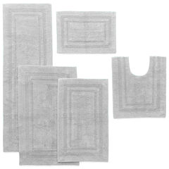 Liz Claiborne Cotton Reversible Solid Bath Rug Collection