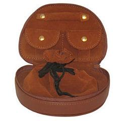 Genuine Leather And Velvet Jewelry Travel Case