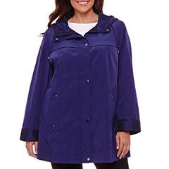 St. John's Bay Water Resistant Raincoat-Plus