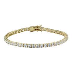Diamonart® 10K Yellow Gold CZ Tennis Bracelet