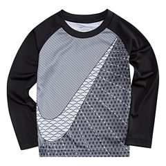 Nike N/A Long Sleeve Crew Neck T-Shirt-Toddler Boys