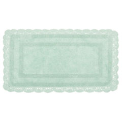 Laura Ashley Crochet Cotton Reversible Bath Mat