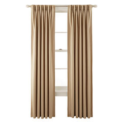 Liz Claiborne® Kathryn Room-Darkening Pinch-Pleat/Back-Tab Curtain Panel