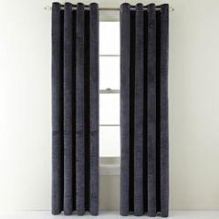 Royal Velvet® Augusta Velvet Rod-Pocket Curtain Panel
