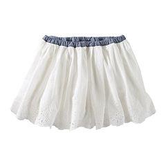 OshKosh B'Gosh® Woven Eyelet Skirt - Preschool Girls 4-6x
