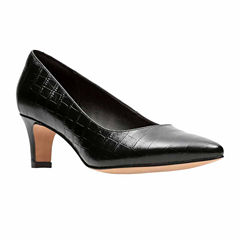 Clarks Crewso Wick Leather Womens Pumps