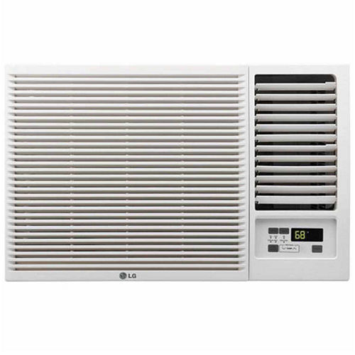 LG 12,000 BTU 230V Window-Mounted Air Conditioner with 11,200 BTU Supplemental Heat Function