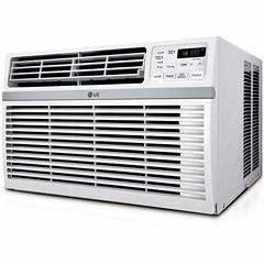 LG 10,000 BTU 115V Window-Mounted Air Conditioner with Remote Control