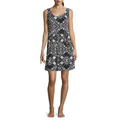 a.n.a Pattern Jersey Swimsuit Cover-Up Dress