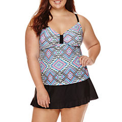 Arizona Diamond Fantasy Tankini Swim Top or Skirtini Bottoms - Juniors Plus