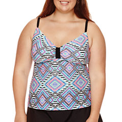 Arizona Diamond Fantasy Tankini Swim Top - Juniors Plus