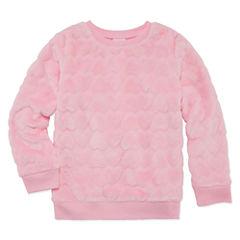Okie Dokie Long Sleeve Hearts Sweatshirt - Preschool Girls