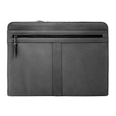 Royce Leather Leather Zip Around Ipad Tablet Organizer With Writing Pad Binder