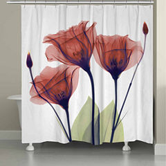 Laural Home Gentian Red Shower Curtain