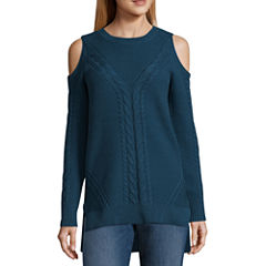 a.n.a Cold Shoulder Pullover Sweater