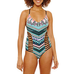 a.n.a Chevron One Piece Swimsuit