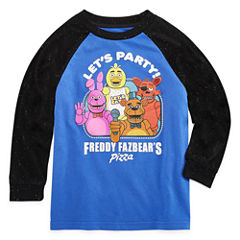 Long Sleeve Crew Neck T-Shirt-Preschool Boys