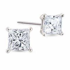1/4 CT. T.W. Princess White Diamond 14K Gold Stud Earrings