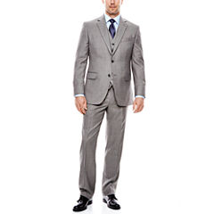 Stafford® Travel Gray Sharkskin Suit Separates - Classic Fit