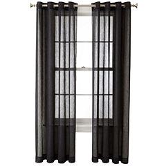 Royal Velvet® Crushed Voile Grommet-Top Sheer Panel