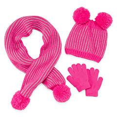Toby 3-pc. Pattern Cold Weather Set-Preschool Girls