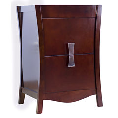 American Imaginations Bow Rectangle Floor Mount 23-in. W x 18-in. D Modern Birch Wood-Veneer VanityBase Only In Coffee