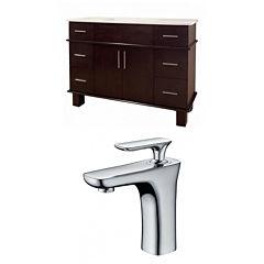 American Imaginations Alum Rectangle Floor Mount Single Hole Center Faucet Vanity Set