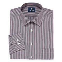 Stafford Travel Easy-Care Broadcloth Long Sleeve Stripe Dress Shirt