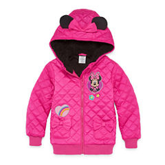Disney Minnie Mouse Lightweight Puffer Jacket - Girls-Big Kid