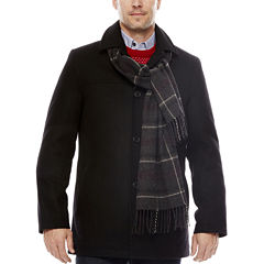 Dockers® Wool-Blend Walking Coat with Scarf