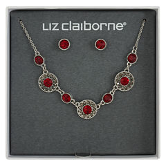 Liz Claiborne Womens 2-pc. Red Jewelry Set