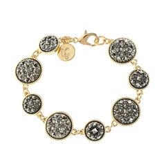 Liz Claiborne Womens Gray Chain Bracelet