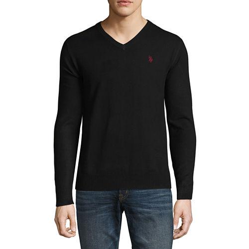 U.S. Polo Assn. Long Sleeve Stretch V-Neck Sweater