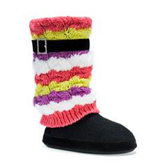 Muk Luks Acrylic Bootie Slippers