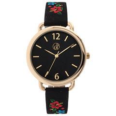Decree Womens Black Strap Watch-Dcr281bg