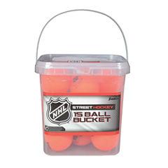 Franklin Sports NHL Hi Density Street Hockey BallBucket