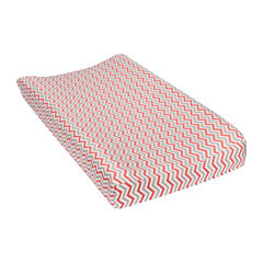 Trend Lab® Chevron Flannel Changing Pad Cover - Coral