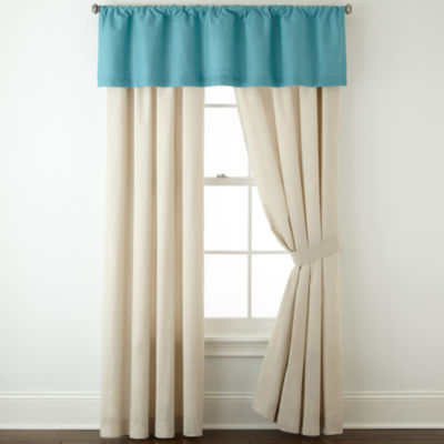 jcpenney home cotton classics 2pack rodpocket curtain panels - 63 Inch Curtains