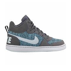Nike Court Borough Mid Girls Basketball Shoes - Big Kids
