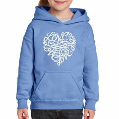 Los Angeles Pop Art Love Long Sleeve Sweatshirt Girls